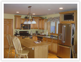 Kitchen in a new home built by KCC